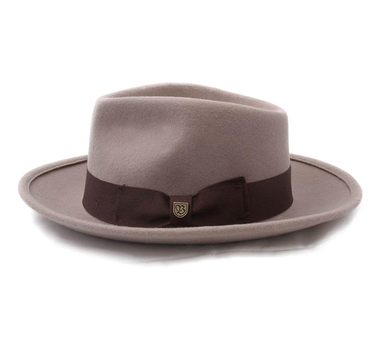 741f50a71d3 Amazon.com  Brixton Men s Swindle Fedora  Clothing