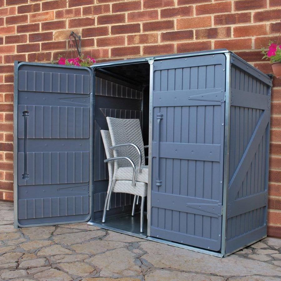 A Great Multipurpose Outdoor Storage Unit That S Perfect For Storing Patio Furniture Toys Lawn Mowers And Anything Else To Keep The Tidy