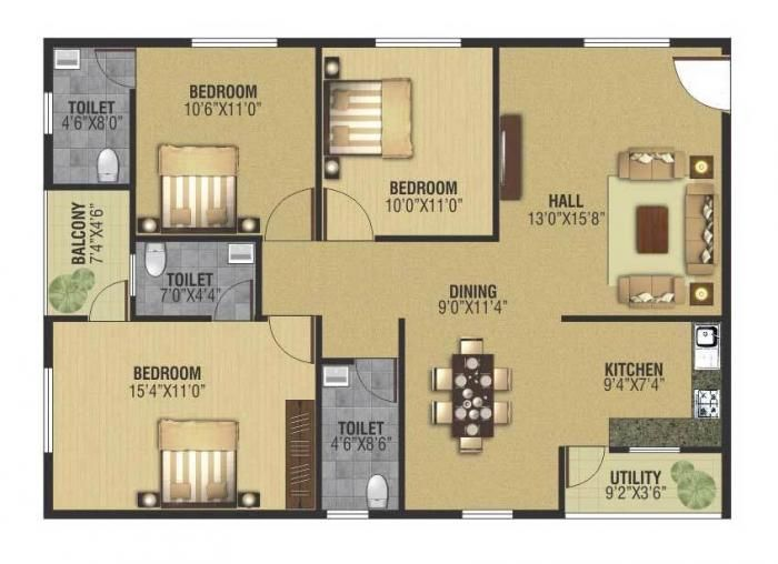 Image result for 3 bhk house plans under 15 lakhs in amalapuram image result for 3 bhk house plans under 15 lakhs in amalapuram malvernweather Images