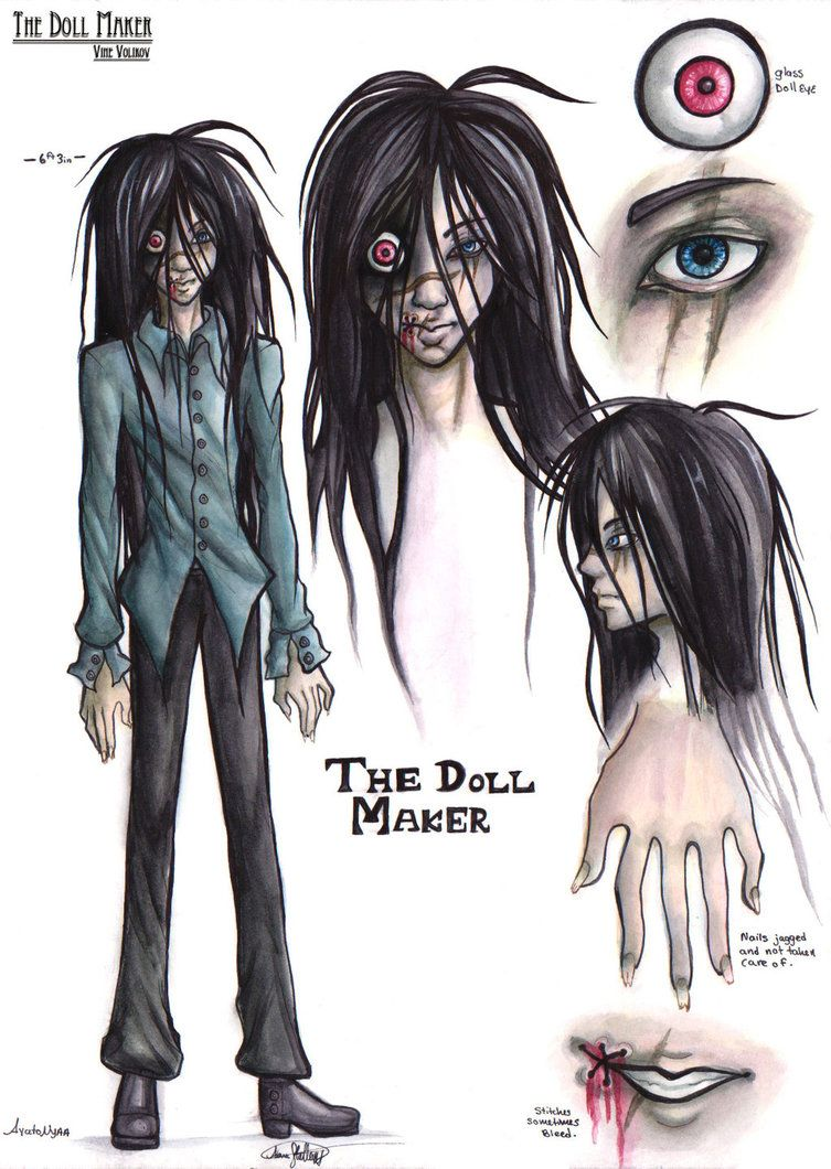 The Doll Maker Reference Sheet By Ayatonyaa Creepypasta