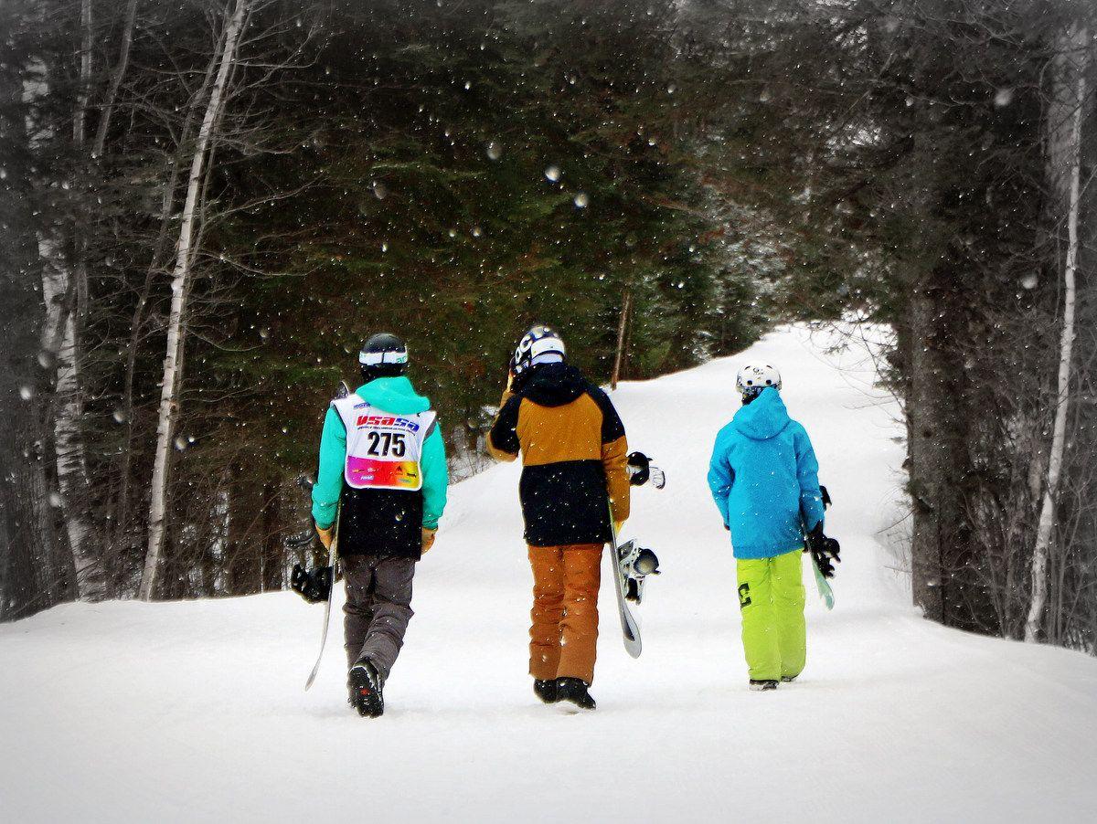 Walking into winter's paradise at Giants Ridge. Photo