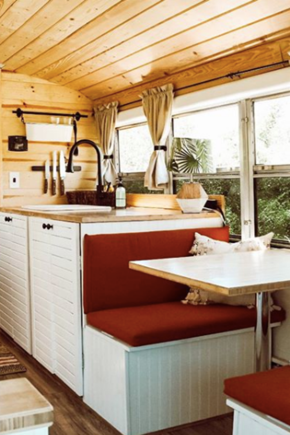 Check out some of the best school bus conversion ideas from short buses to full size skoolies!  #tinyhouseonwheels #skoolieconversion #schoolbusconversion