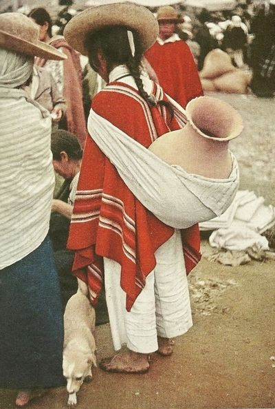 Market In Otavalo Equador National Geographic December 1941