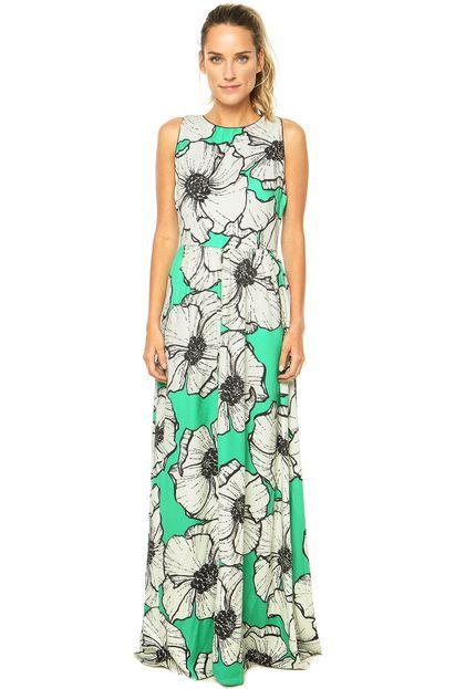 d514c57a68 Vestido Longo FARM Verde - Compre Agora