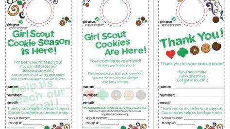 Scout Cookie Door Hanger Printable