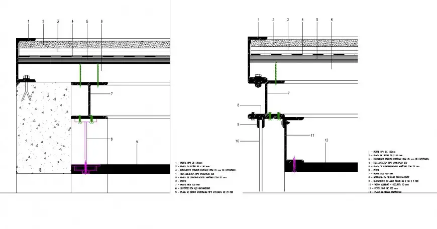 Steel constructions section plan layout file