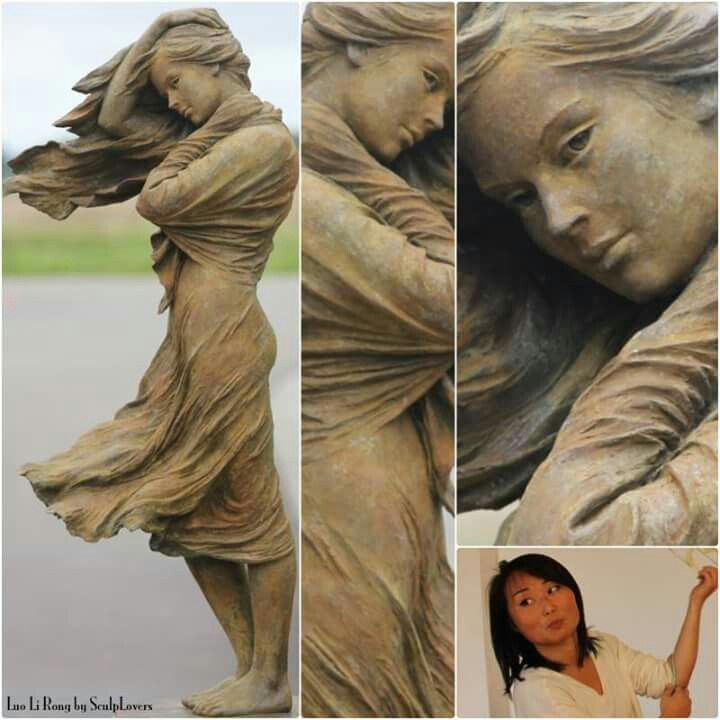 Sculp lovers dancing in the wind luo li rong china