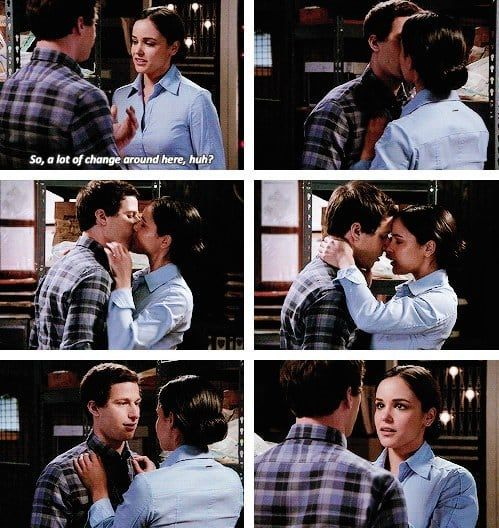 28 Times Jake And Amy Gave You Heart Palpitations With Their Love Brooklyn Nine Nine Funny Jake And Amy Brooklyn Nine Nine