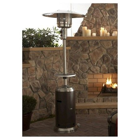 Garden Sun Tall Propane Patio Heater With Table Stainless Steel And Hammered Bronze Target