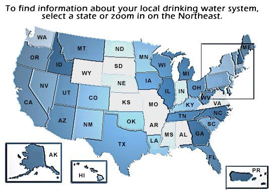 US EPA Local Drinking Water Information To Find Info About Your - Us drinking water quality map