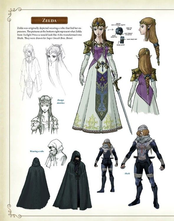 Princess Zelda From A Robe To Twilight Princess To The