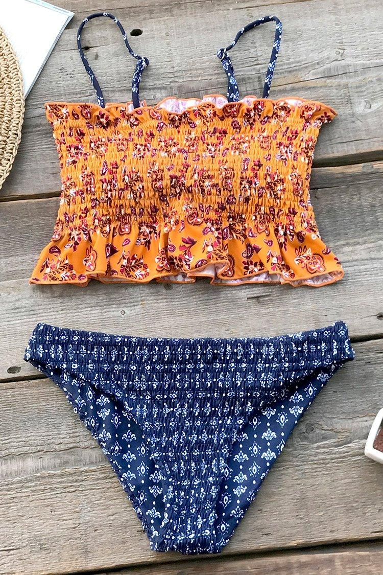 d49ed7340efbe #EnvyWe #CupShe - #CUPSHE Summer Paisley Smocked Bikini - EnvyWe.com