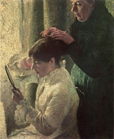 Federico Zandomeneghi, Mother  and Daughter 1879