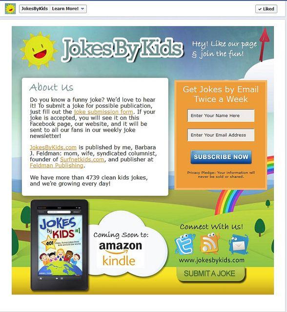 Jokes By Kids Facebook App Page by Custom Page Designs Facebook - copy free blueprint design app