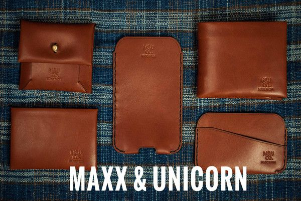 Maxx & Unicorn is a Brooklyn Maker of premium Men's Accessories. All Made in the USA, the M-U Men's Wallets are made with Bridle Leather and are super cool.