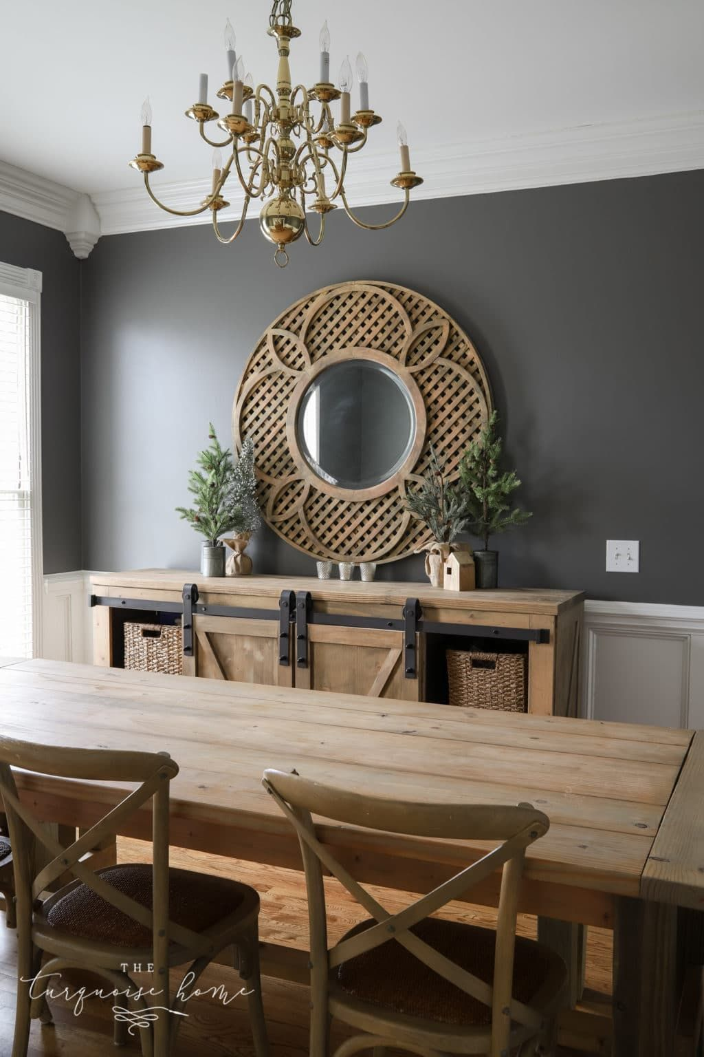 Charcoal Painted Walls In My Dining Room Dining Room Inspiration Dining Room Paint Dining Room Remodel