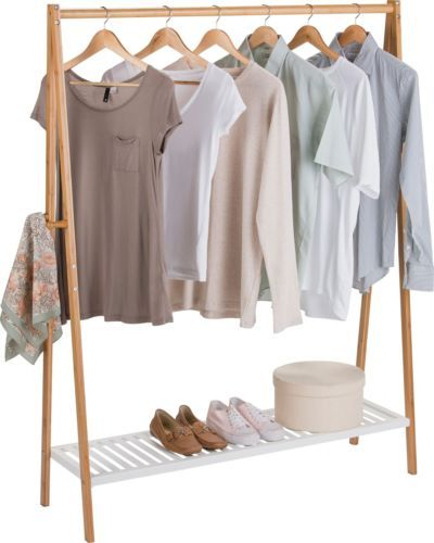 Bamboo Clothes Rail To Live In In 2019 Hanging Rail