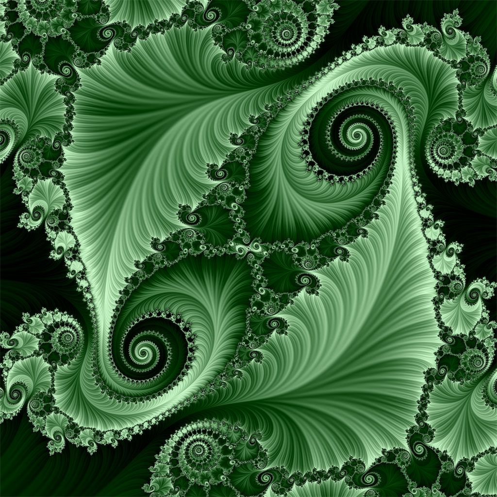 Green Fractal. Fractal Rough Fragmented