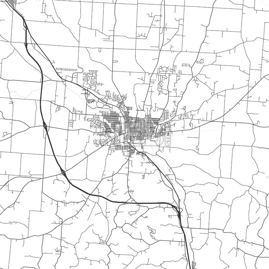 Lancaster Ohio Area Map Light Lancaster and Ui ux