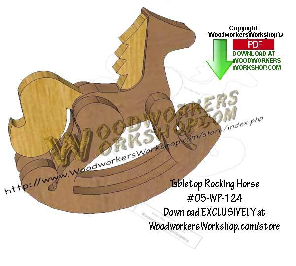 05 Wp 124 Tabletop Rocking Horse Downloadable Scrollsaw