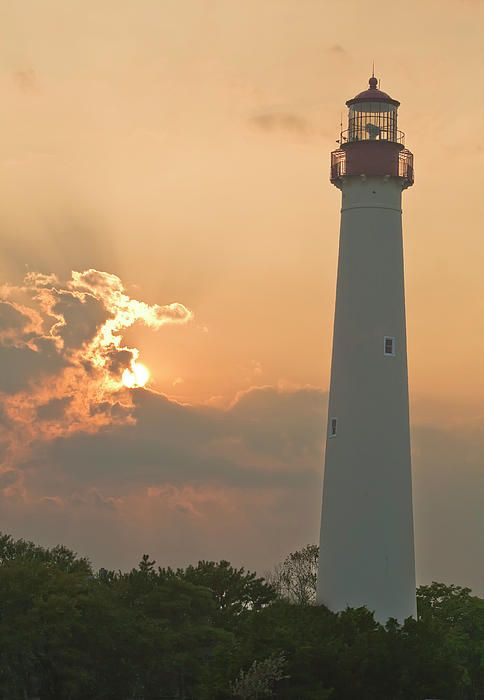 Lighthouse at Sunset - Cape May, NJ | Photography - Boats ...