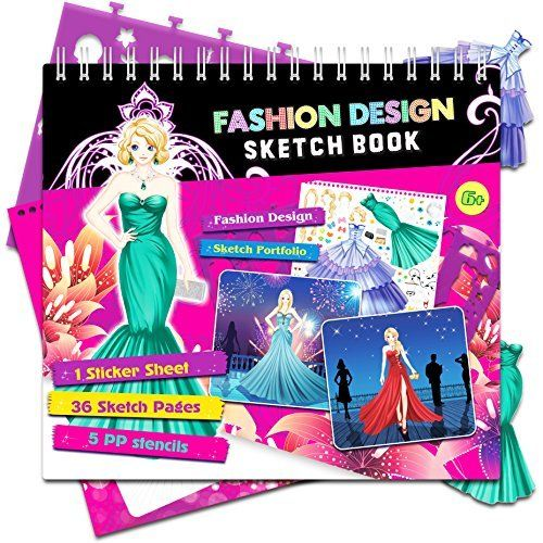 Amazon Com Fashion Angels Fashion Design Sketch Portfolio Artist Set Toys Games Fashion Angels Sketch Book Fashion Design Books