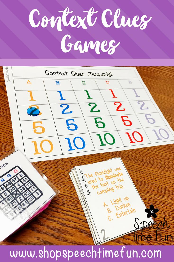 Context Clues Games | Social Skills | Context clues games