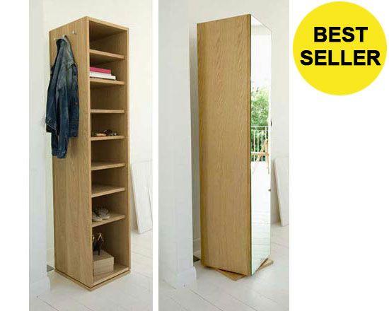 Storage :: Oak Veneer Rotating Mirror   Futon Company | Futons | Sofa Beds |