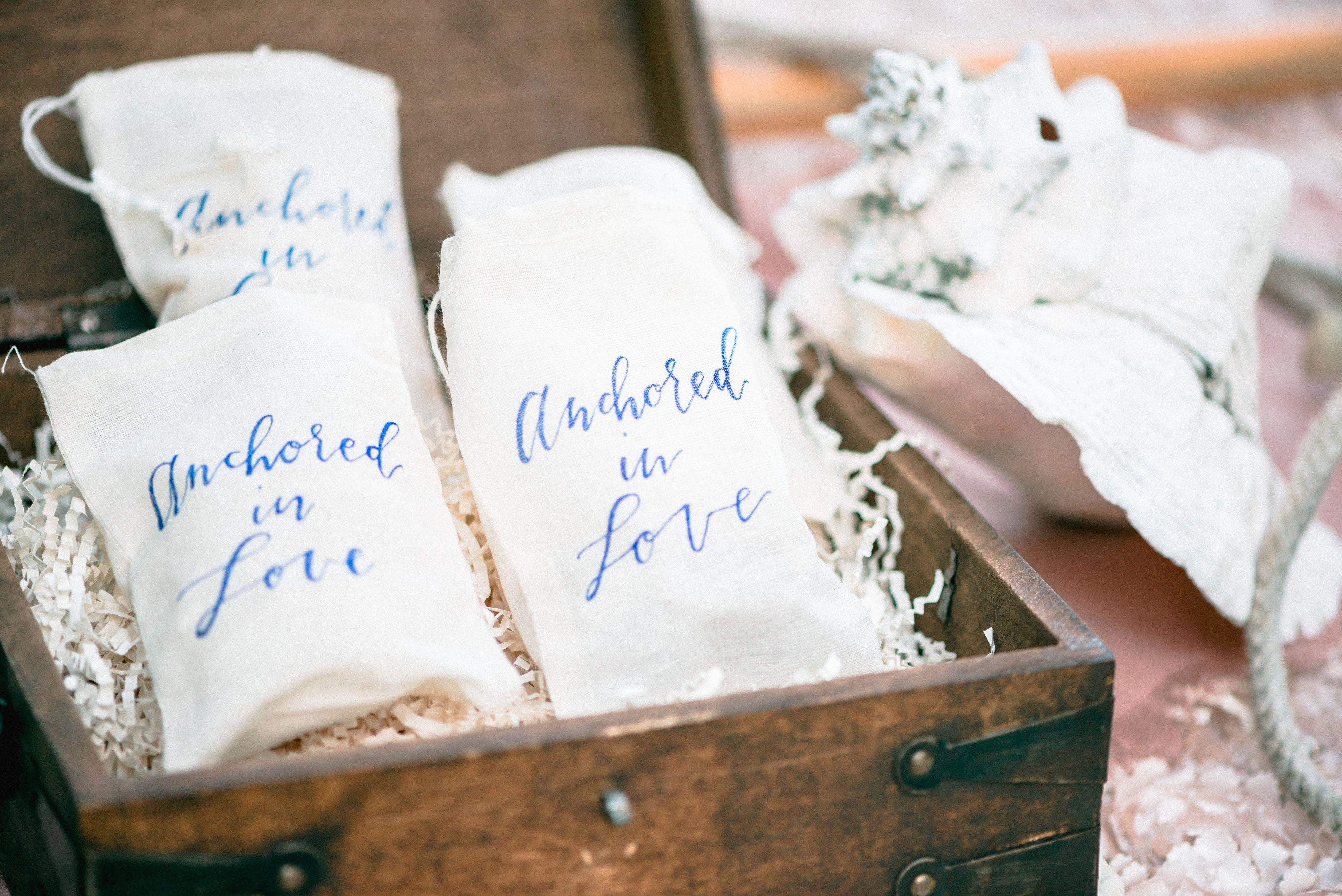 Sea Salt Carmels for a Nautical Guest Favor   [Claire E. Walden] [Kallidoscope Photography] [Mint & Lovely Studios]