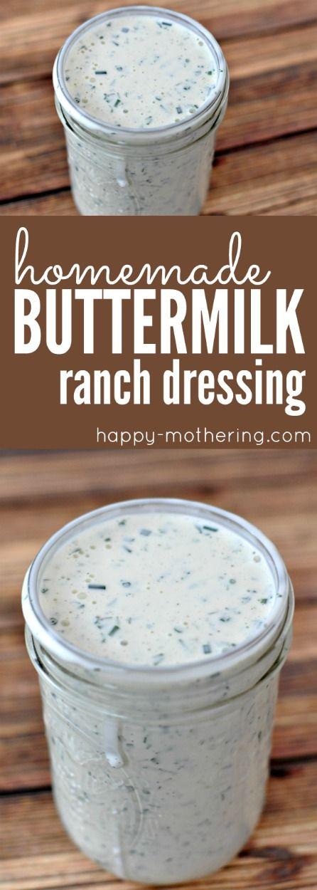 The Best Homemade Buttermilk Ranch Dressing Recipe With Images Homemade Ranch Dressing Buttermilk Ranch Dressing Recipe Buttermilk Ranch Dressing