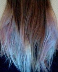 Brown Hair With Blue Tips Ombre Brown Hair With Light Blue And
