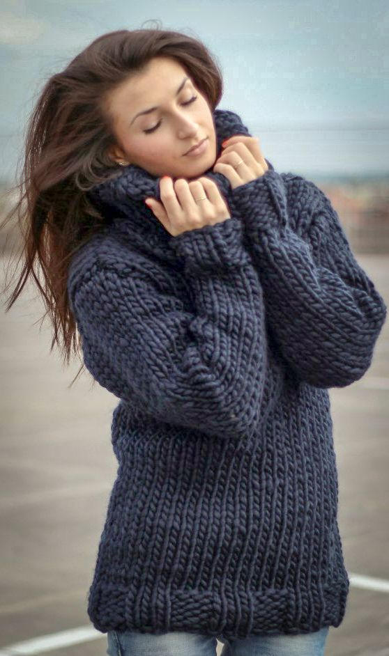 Perfect Chunky wool turtleneck sweater | BIG THICK BULKY Turtleneck  MO16
