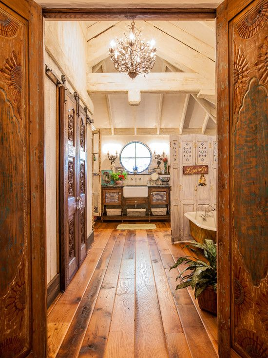 Beautify any room of the house with wood interior trim for Rustic floors of texas