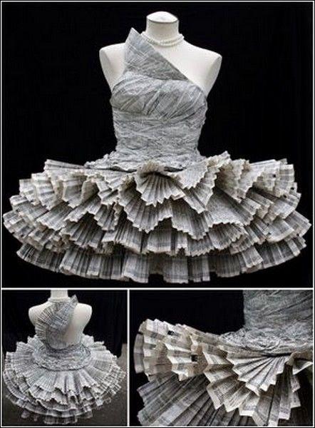 1f22e4cc91051ce Самые красивые и необычные платья из бумаги | костюм | Платье из ...