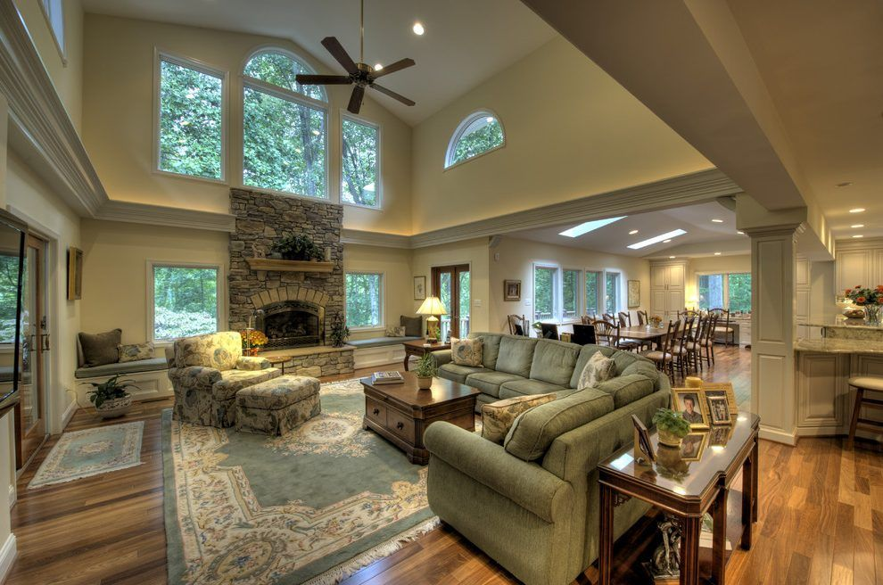 Living Room Designs Traditional Magnificent Window Above Fireplace Living Room Traditional With Vaulted Inspiration