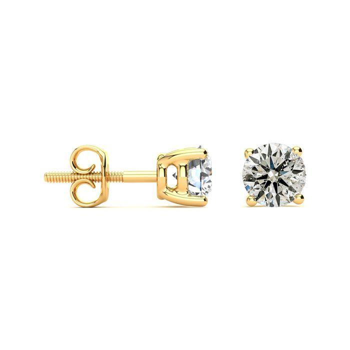 Limited Supply 1 1 4 Carat Diamond Stud Earrings In 14 Karat Yellow Gold Diamond Earrings Studs Diamond Studs Stud Earrings