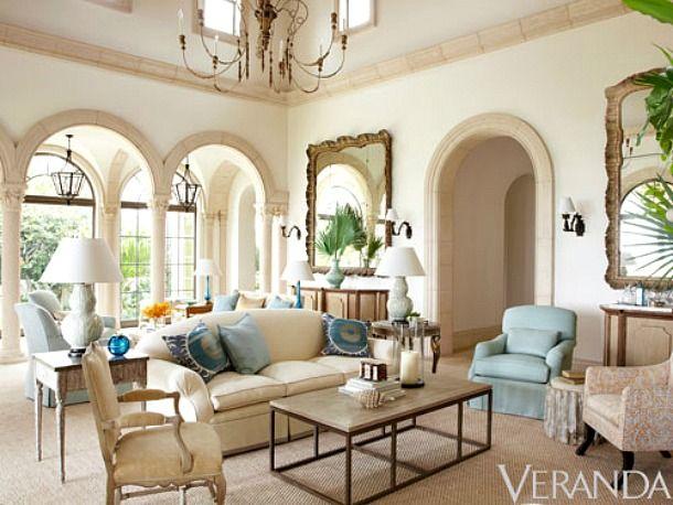 Veranda Magazine Highlights Palm Beach Villa  hermosa house ideas  Beach House Decor Beach