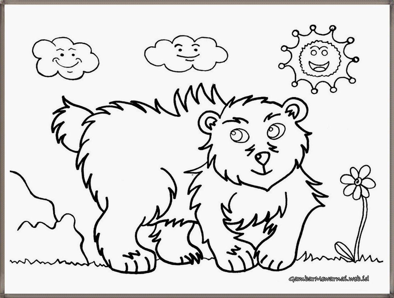 gambar mewarnai anak beruang