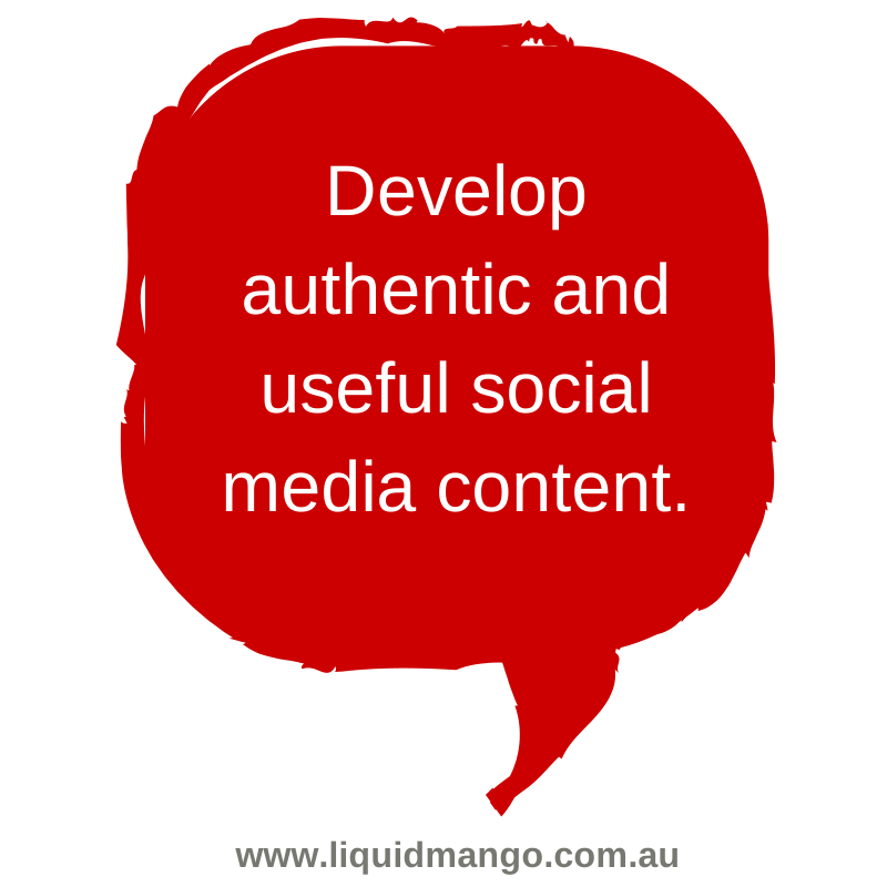 Focus on your community. What do they need or want to know more about? #smtips #biztips www.liquidmango.com.au