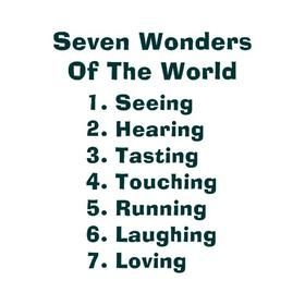 Thought Of The Day 6 1 The Real Seven Wonders Of The World