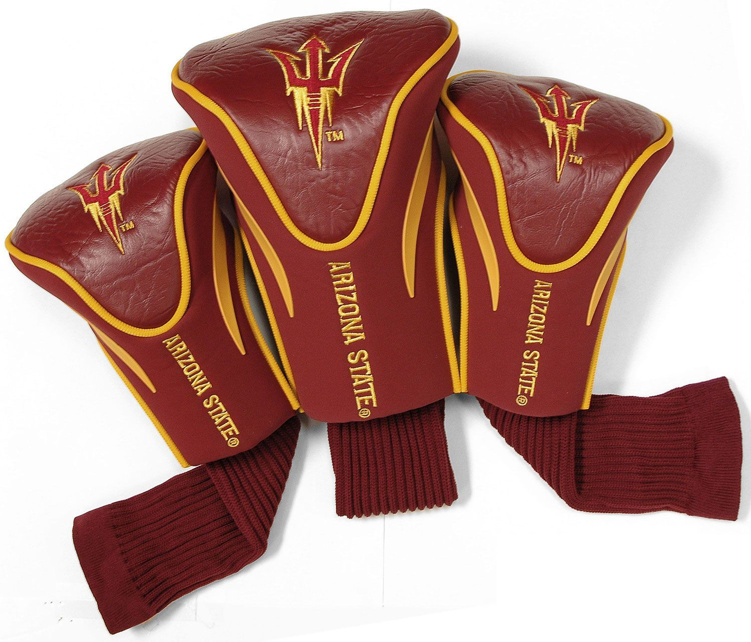 newest 13f2b 2100e Team Golf Arizona State Sun Devils Maroon (Red) Contour Headcovers - 3-Pack