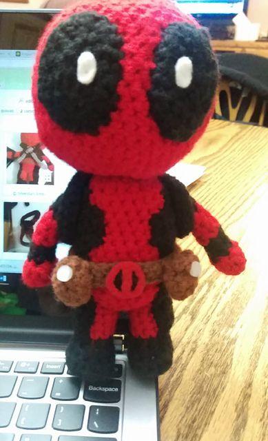 Ravelry: Deadpool Amigurumi pattern by Sheridan Amb | Crochet ...