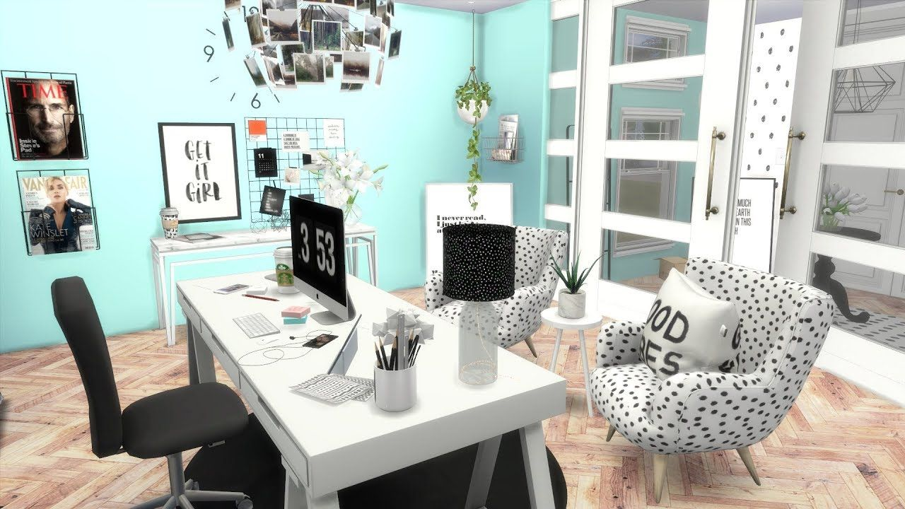 THE SIMS 4: SPEED BUILD // OFFICE + CC LINKS | Sims house ...