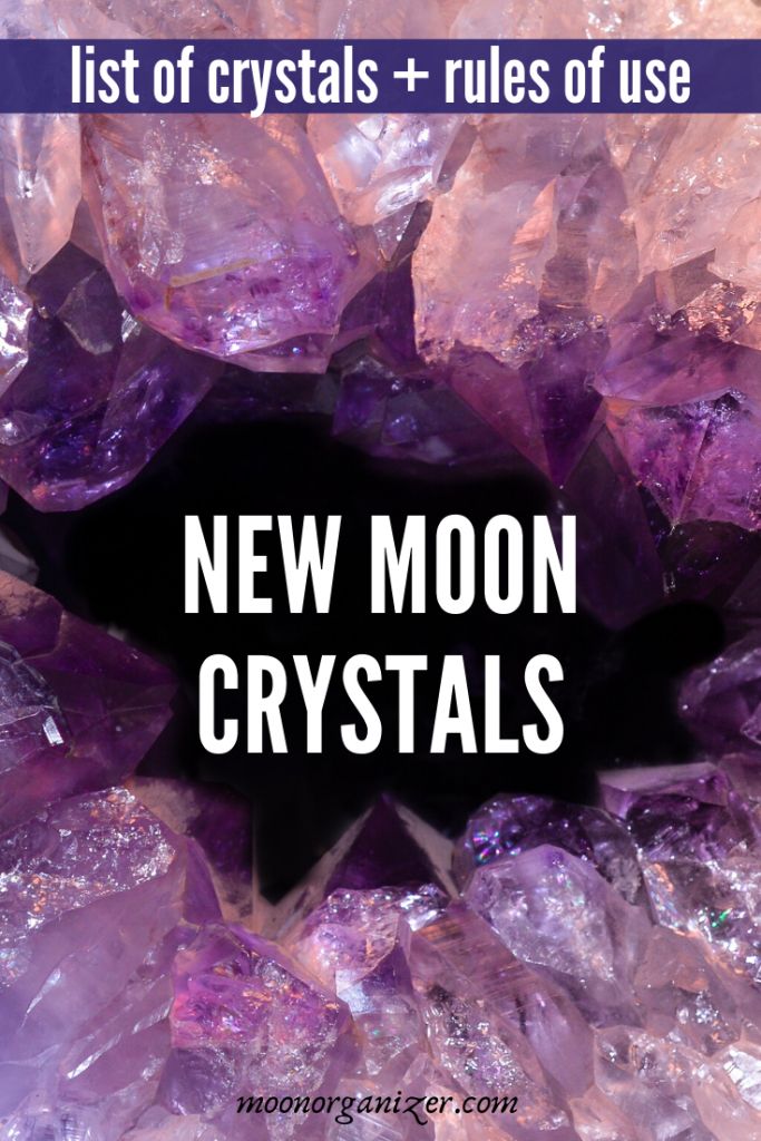 New moon crystals in lunar witchcraft – list of crystals, rules of use