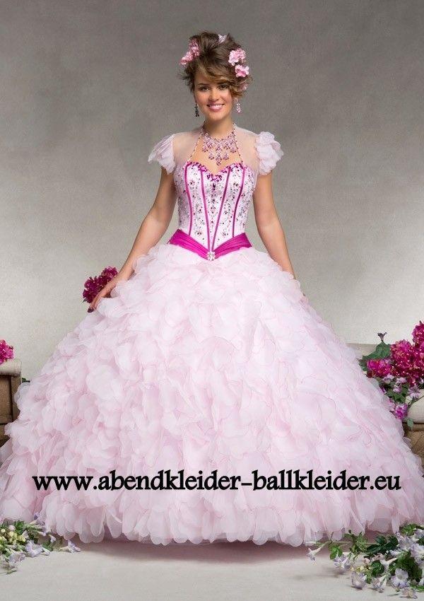 Prinzessin Abendkleid Ballkleid Brautkleid in Rosa | Ballkleider ...