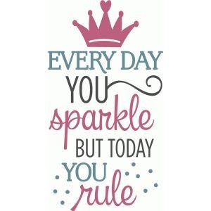 Silhouette Design Store: Every Day You Sparkle - Birthday Phrase