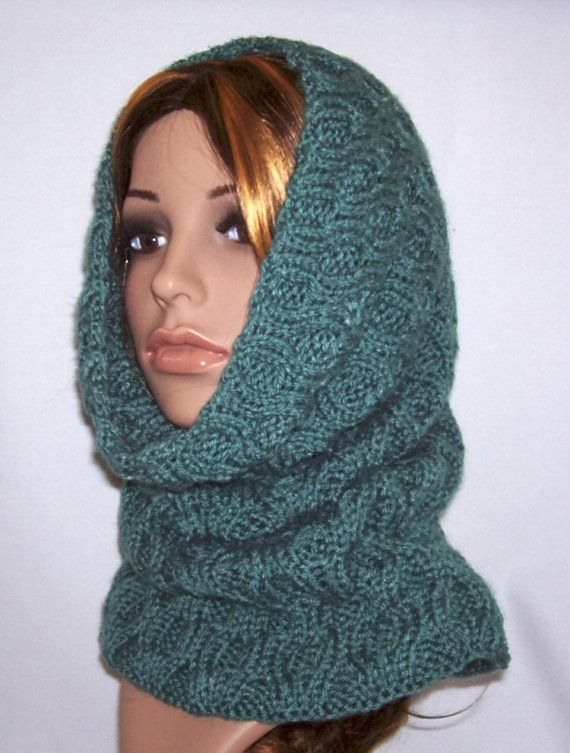 Turn this design into a wimple (a cowl and hood combo) by crocheting ...