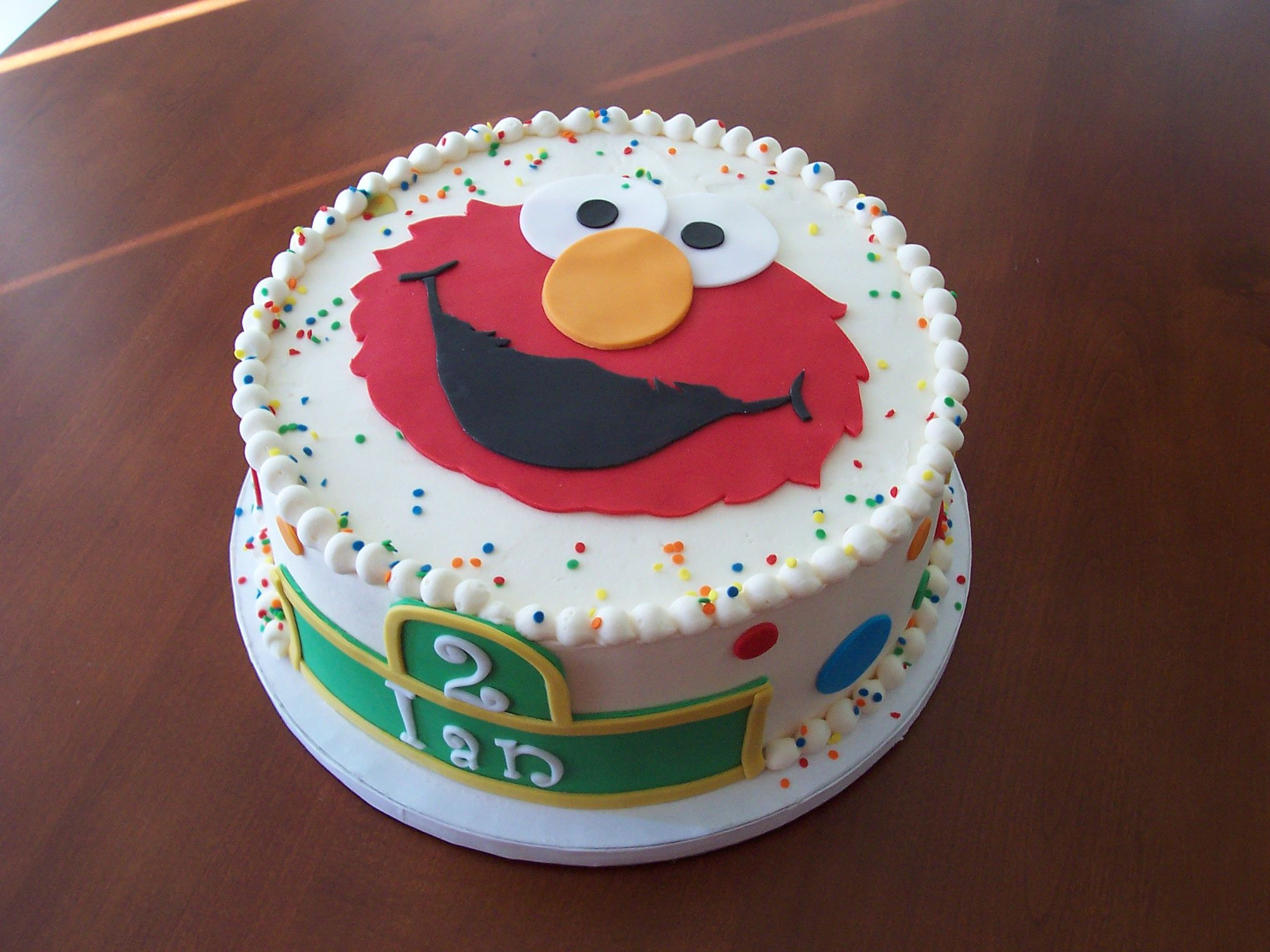 Elmo 2nd Birthday Cake 2 Birthday Cake Cricut Cake