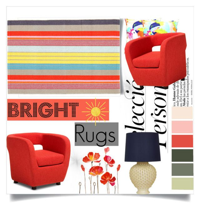 """""""Color Theory: Bright Rugs"""" by flytotheworld on Polyvore featuring interior, interiors, interior design, home, home decor, interior decorating, Baxton Studio and Bella Figura Lighting"""
