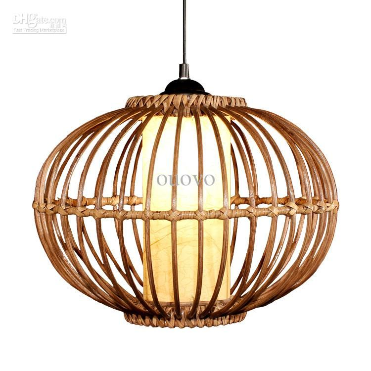 Modern 14 Handmade Rattan Pendant Light Free Shipping Study Dining Room Lamp Southeast Asia Stylish Restaurant Lighting